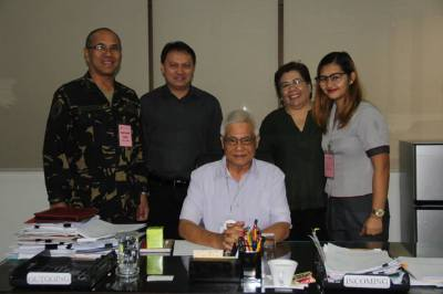Col Jose Victor L Vargas PAF (GSC), Group Commander of 7th Civil Relations Group, Civil Relations Service Armed Forces of the Philippines, ASEC Allan D Cabanlong, BGen Eliseo M Rio Jr (Ret), USEC, Ms Thelma D Villamorel and Ms KArie Anne Cortez (From left to right)